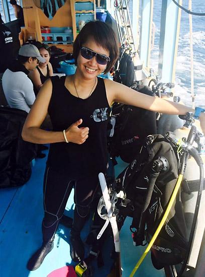 ครูนุ๊ก (Nook) ผู้ก่อตั้งโรงเรียนสอนดำน้ำ Zanook Dive